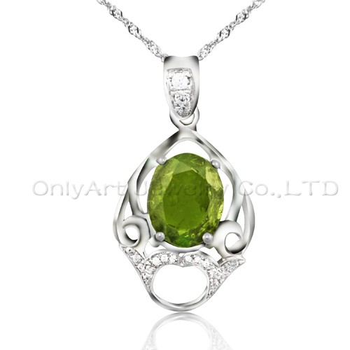 hot sales CZ 925 sterling silver pendant