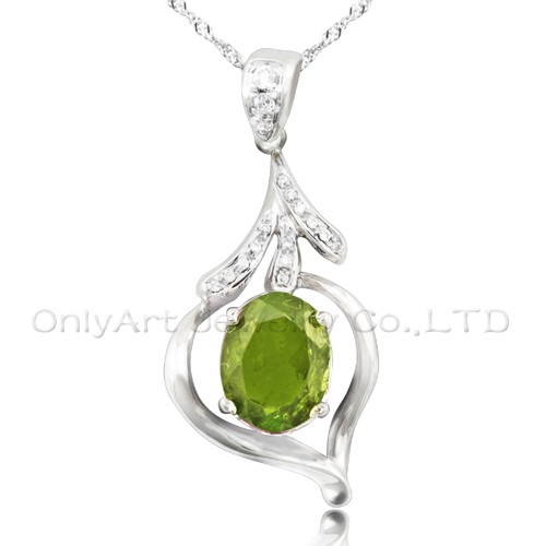elegant design antique gemstone silver pendant for lady