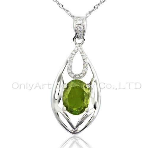 wholesale cz pendant high quality fashion 925 sterling silver jewelry