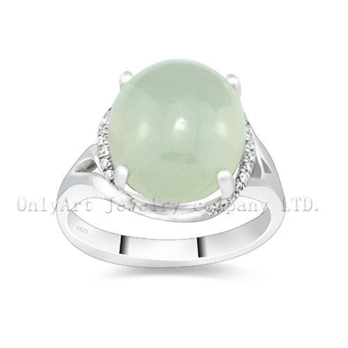 Hot Sell Gemstone Stone Sterling Silver Ring