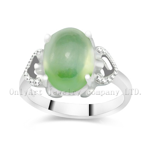 Gemstone Sterling Silver 925 Wedding Heart Ring