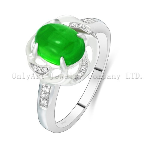 Factory Price Jade Sterling Silver 925 Ring