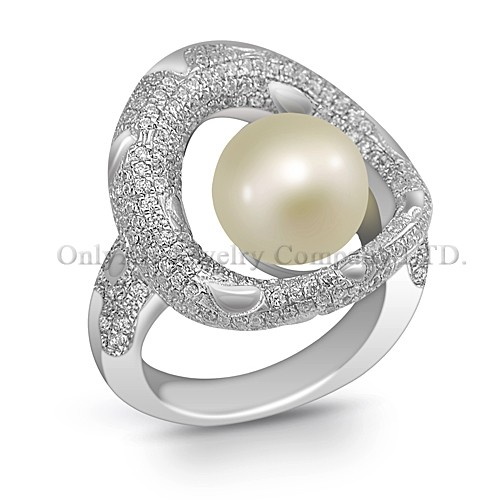 China Gold Supplier Enchant Pearl Silver 925 Ring Band