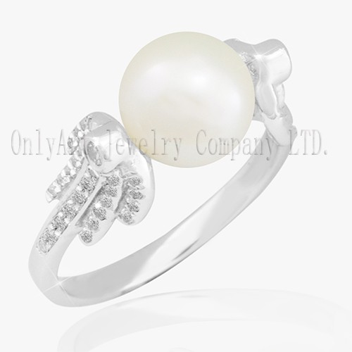 Vintage Natural Pearl On Silver 925 Ring