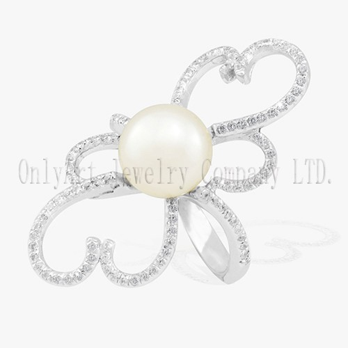 Fine Jewelry Pearl Sterling Silver 925 Ring