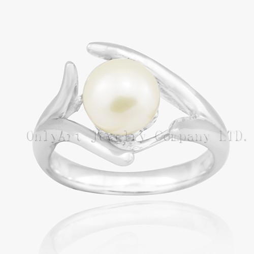 Newest Fashion 925 Sterling Silver Pearl Ring