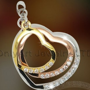 Silver Plain Heart Pendant Jewelry OAP0043