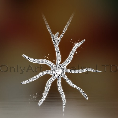 Sterling Solid 925 Silver Jewelry Starfish Pendant OAP0044