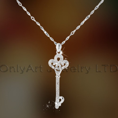 Wholesale Fly Bird Beautiful Cz Set Silver Pendant,High Luxury Fahsion Jewelry OAP0066
