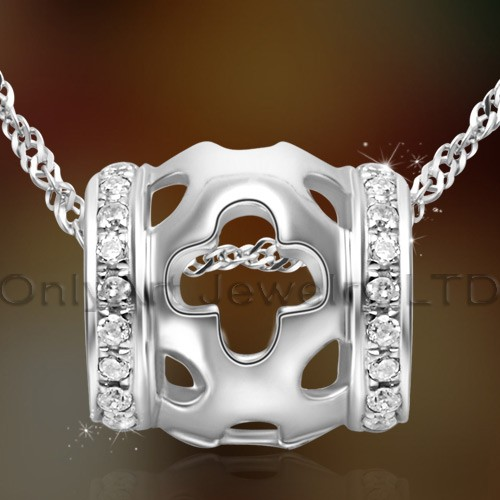 small order fashion design 925sterling silver open cross pendant jewelry with prompt delivery paypal