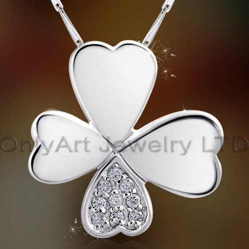stunning fashion design 925sterling silver luck heart pendant jewelry with prompt delivery paypal ac