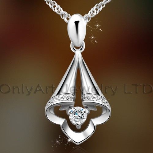 2013 latest fashion design high quality 925sterling silver pendant jewelry with prompt delivery payp