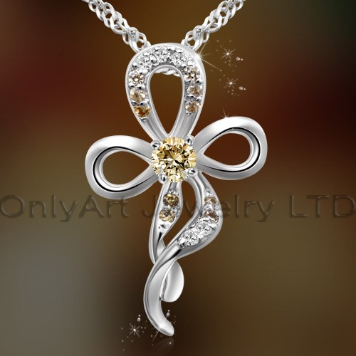 2013 latest fashion design 925sterling silver pendant gorgeous floral jewelry with prompt delivery p
