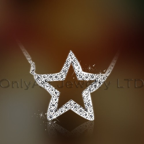 Sterling Silver Solid 925 Star Pendant OAP0049