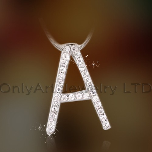 Sterling Silver Solid 925 Initial Pendant OAP0050