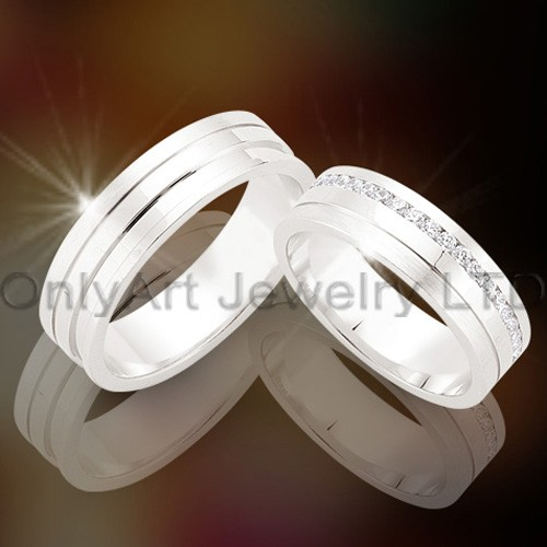 925 Silver Couple Ring OAR0019