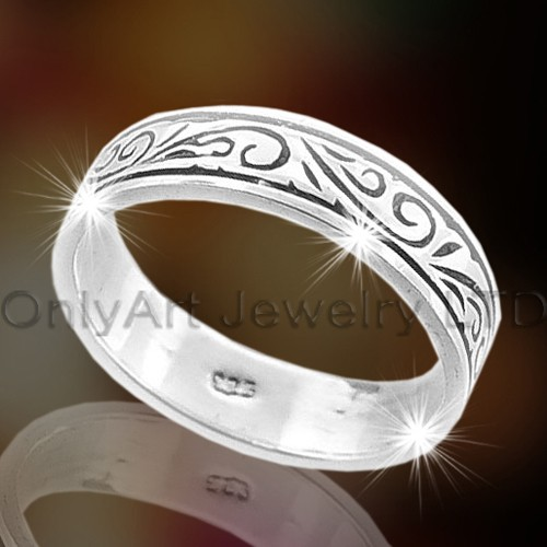 Engraving Silver Rings OAR0041