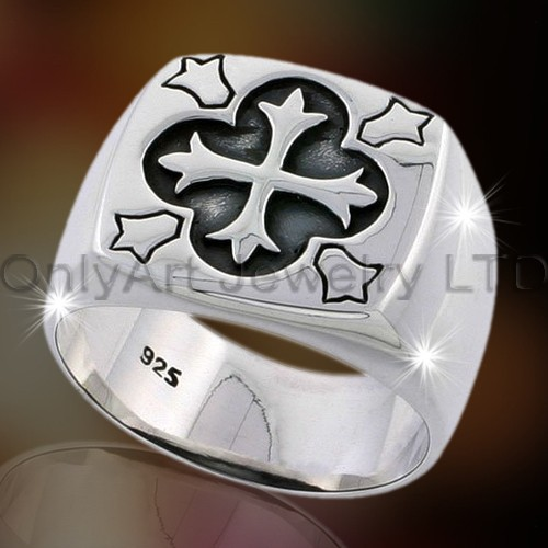 925 Mens Latest Silver Ring OAR0086