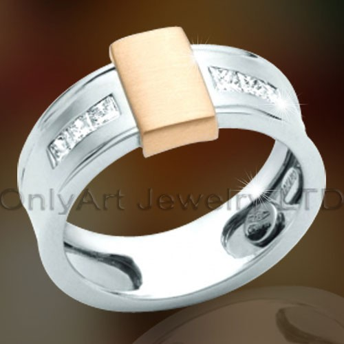 Sterling Silver Mens Band OAR0117
