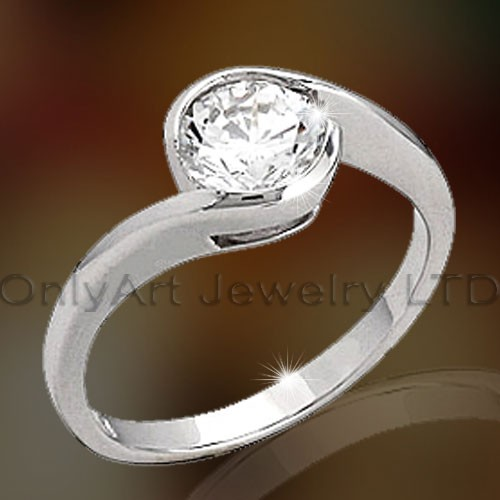 Sterling Silver Zircon Ring OAR0118