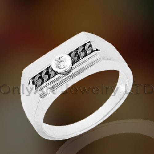 Sterling Silver Rings For Men OAR0122