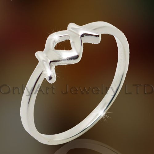 Comfortable Design Ladies Silver Rings OAR0130