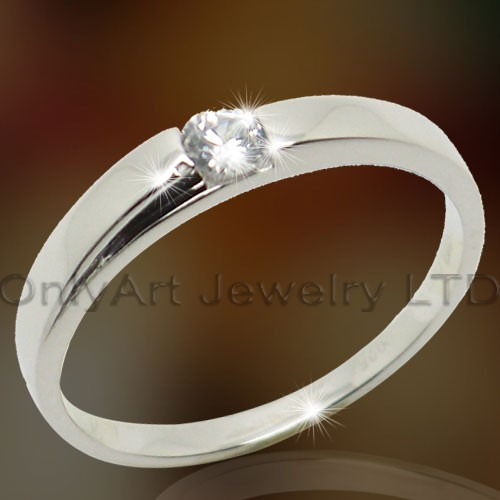 Elegant Wedding Silver Cz Rings OAR0136