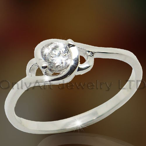 Elegant Sterling Silver Engagement Jewelry OAR0138