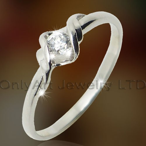 Elegant Wedding Silver Jewelry  OAR0147
