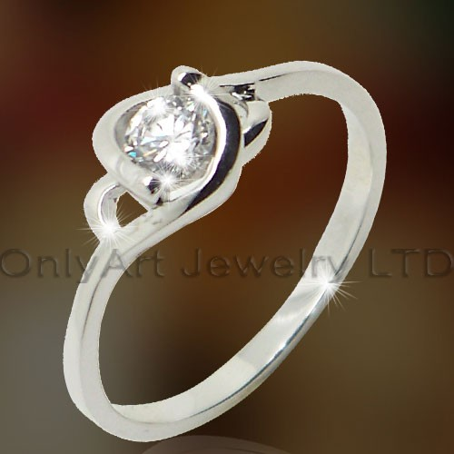 Ladies Wedding Silver Jewelry OAR0149