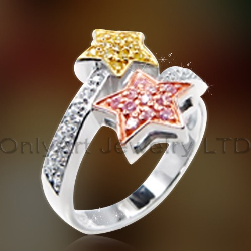 Star 925 Sterling Silver Jewelry OAR0155