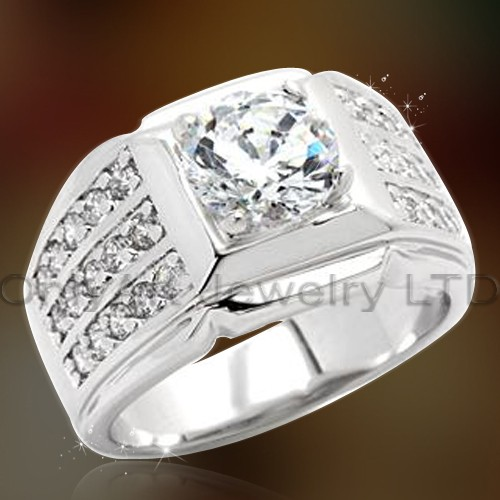 Fashionable 925 Sterling Silver Ring Men OAR0156