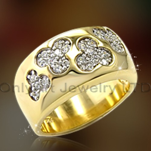 Gold Plated Silver Rings With Cz OAR0158