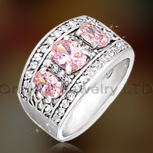 Fast Delivery Silver Rings With Cz OAR0159