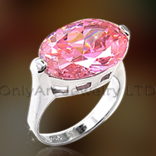 Cheap Jewelry Big Pink Stone Ring OAR0167