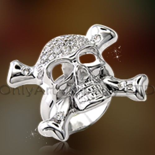 Mens Jewelry Skull Ring OAR0175