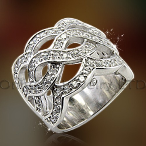 Fashional Jewelry Big Silver Ring OAR0177