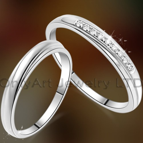 delicate Chinese couple ring hot sell high quality fashion sterling silver wedding jewelryOAR0195