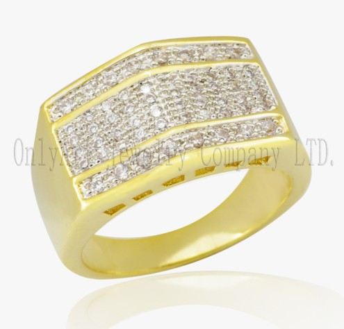 925 Sterling  Silver Gold Plated Luxury Ring
