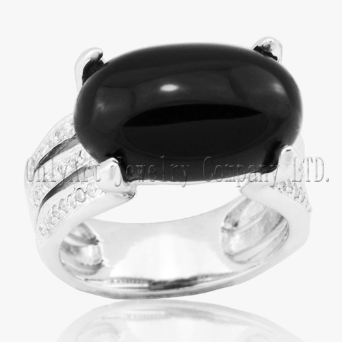 Hot Sales 925 Sterling Silver Onyx Ring