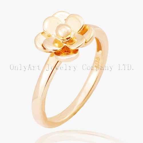 Simple 925 Sterling Silver Flower Ring