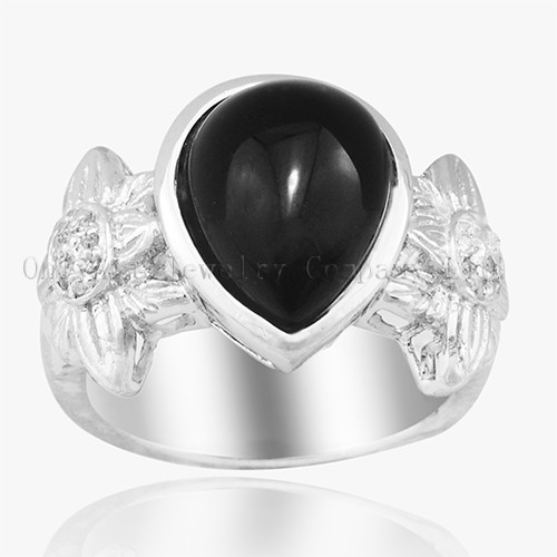 Black Onyx High Quality 925 Sterling Silver Ring