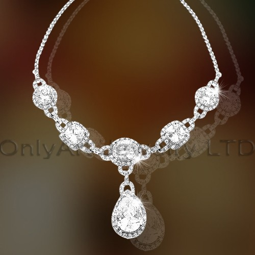 925 Silver Jewelry Necklace OAN0003