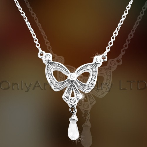 925 Silver Butterfly Necklace OAN0004