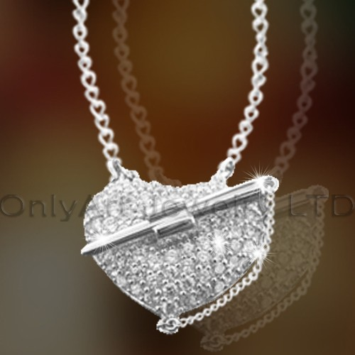 925 Silver Heart Necklace OAN0010