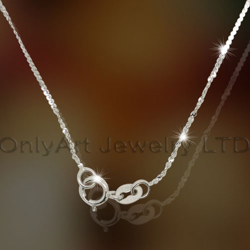 Sterling Silver Lady Necklace OAN0013