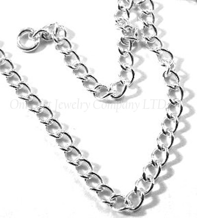 hot selling thin curbe sterling silver chain