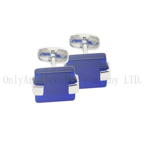 top sales stone inlaid brass cufflinks