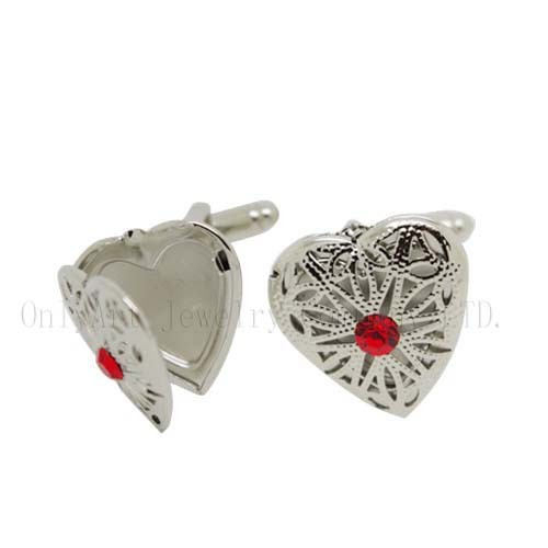 high quality fashion locket brass cufflinks for unisex acceptable