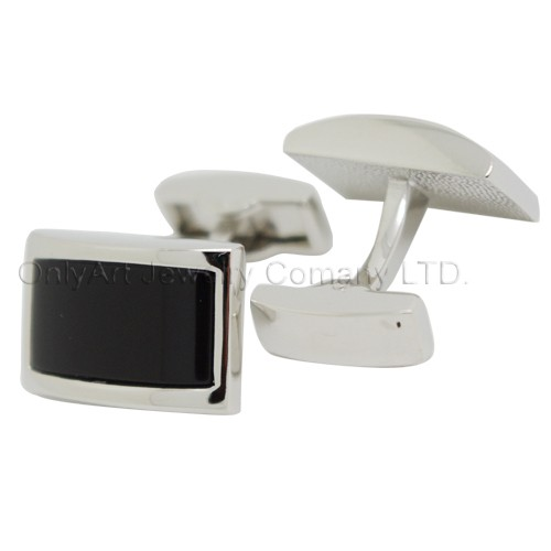 classic black stone fashion cufflinks for men with paypal acceptable